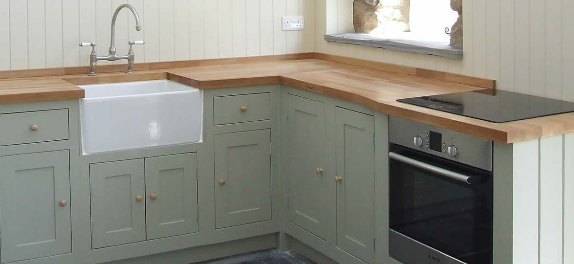 Bespoke In-Frame Painted Shaker Kitchen - St Davids Old Barn Conversion