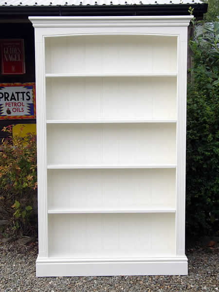 Freestanding bookcase hand painted in Farrow & Ball 'Pointing'
