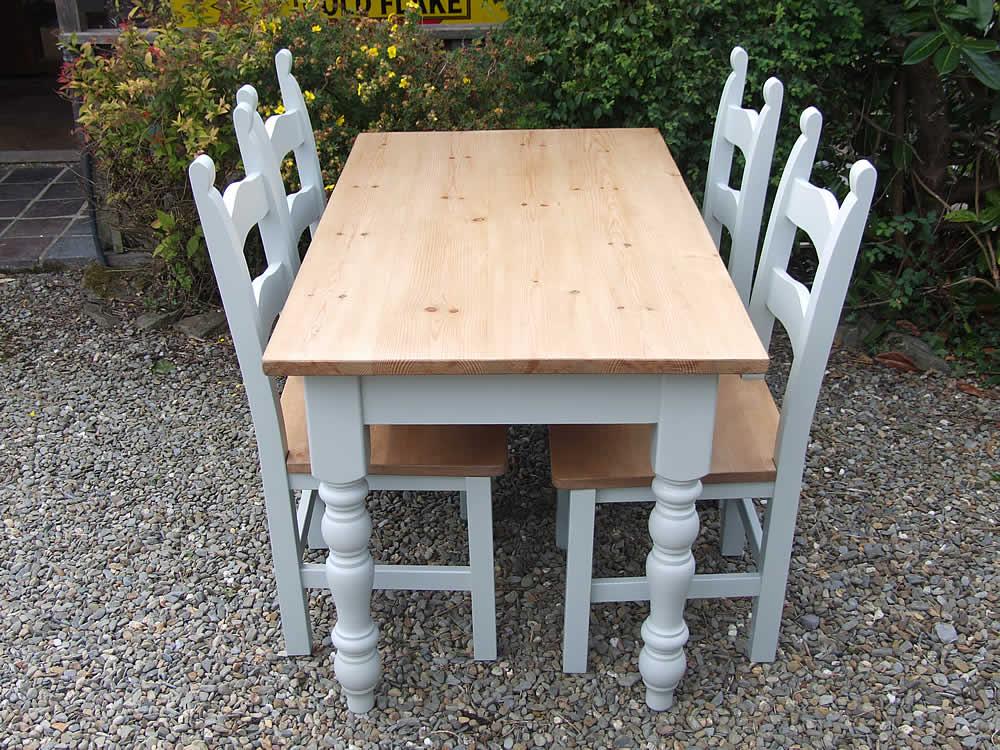 Farmhouse dining tables - Light blue dining table ...