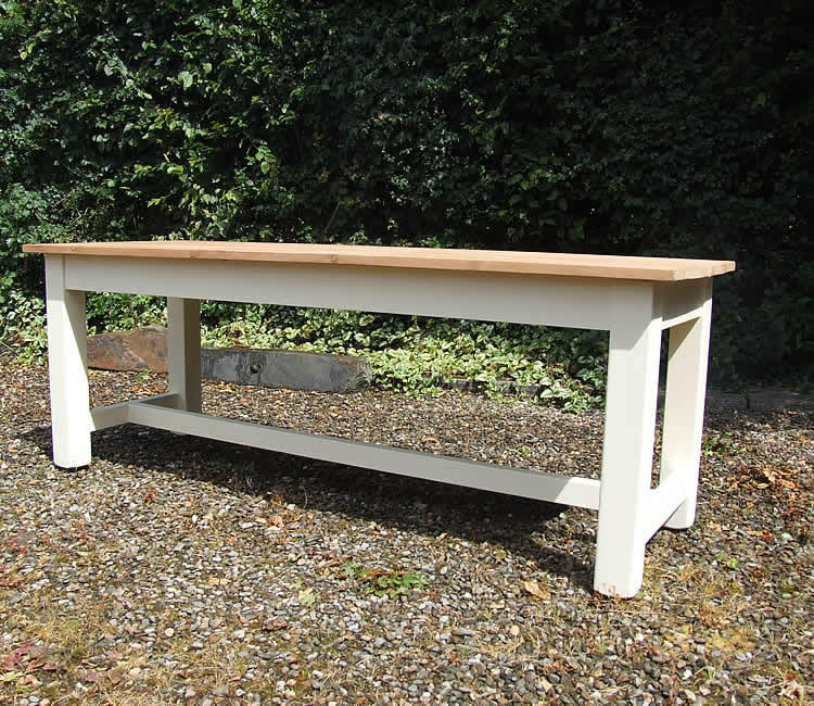 Large Farmhouse Refectory Dining Table with Pine Top