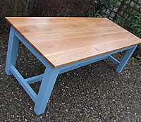 Painted Refectory Tables Oiled Oak Top