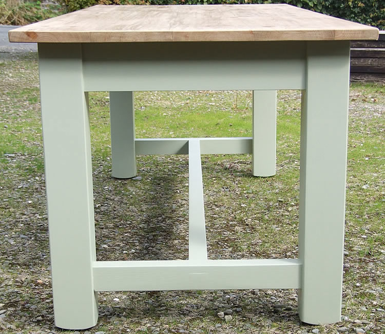 Farmhouse Refectory Dining Table with Square Legs