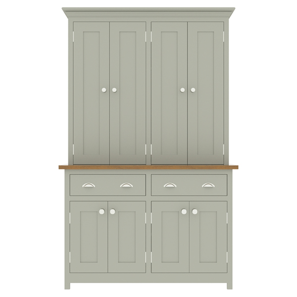 large kitchen dresser with panelled door top cupboard - 1250mm wide