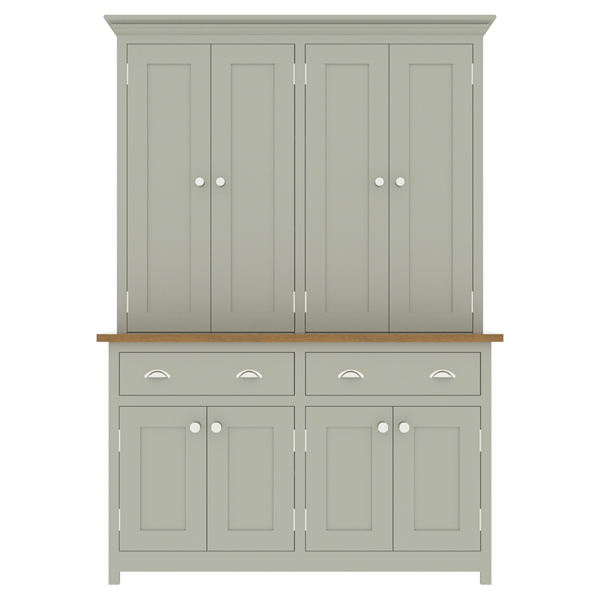 large kitchen dresser with panelled door top cupboard - 1400mm wide