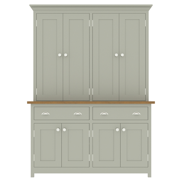 large kitchen dresser with panelled door top cupboard - 1450mm wide
