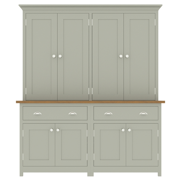 large kitchen dresser with panelled door top cupboard - 1700mm wide