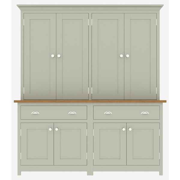 large kitchen dresser with panelled door top cupboard - 1750mm wide