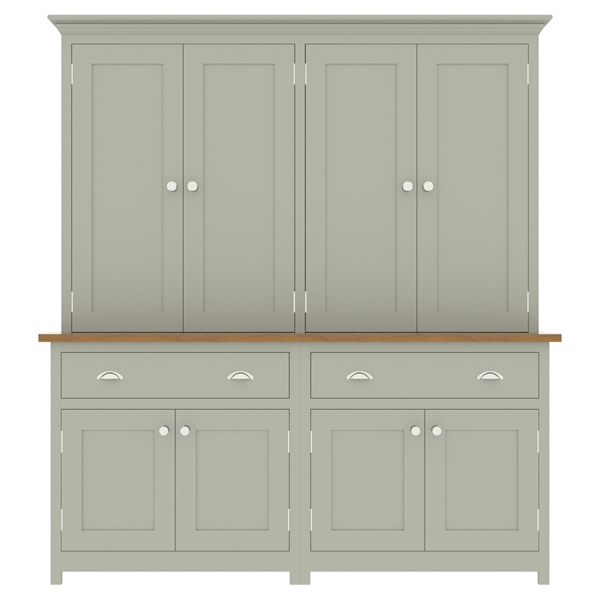 large kitchen dresser with panelled door top cupboard - 1800mm wide