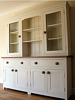Large kitchen dresser with full height glazed door top