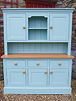 Large kitchen dresser with full height solid door top