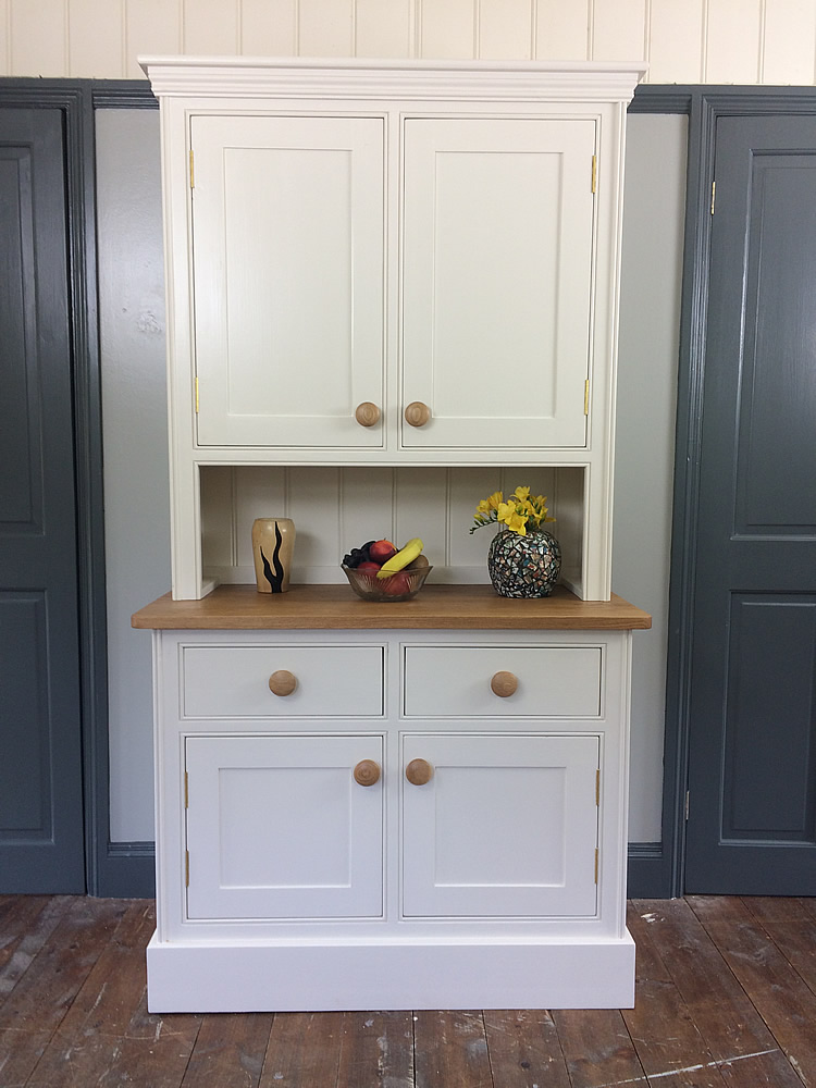 Small Kitchen Dressers With Solid Panelled Door Cupboards