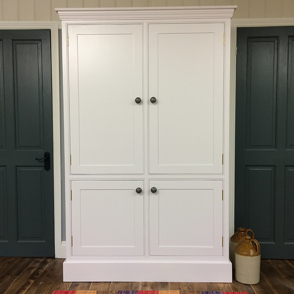 Freestanding Larder Cupboard with 4 Panelled Doors