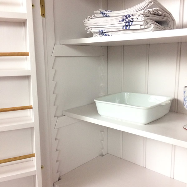 Freestanding Larder Cupboard Fully Adjustable Internal Shelving