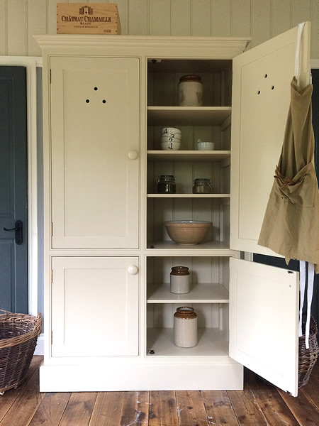 freestanding kitchen larder cupboard with 4 doors