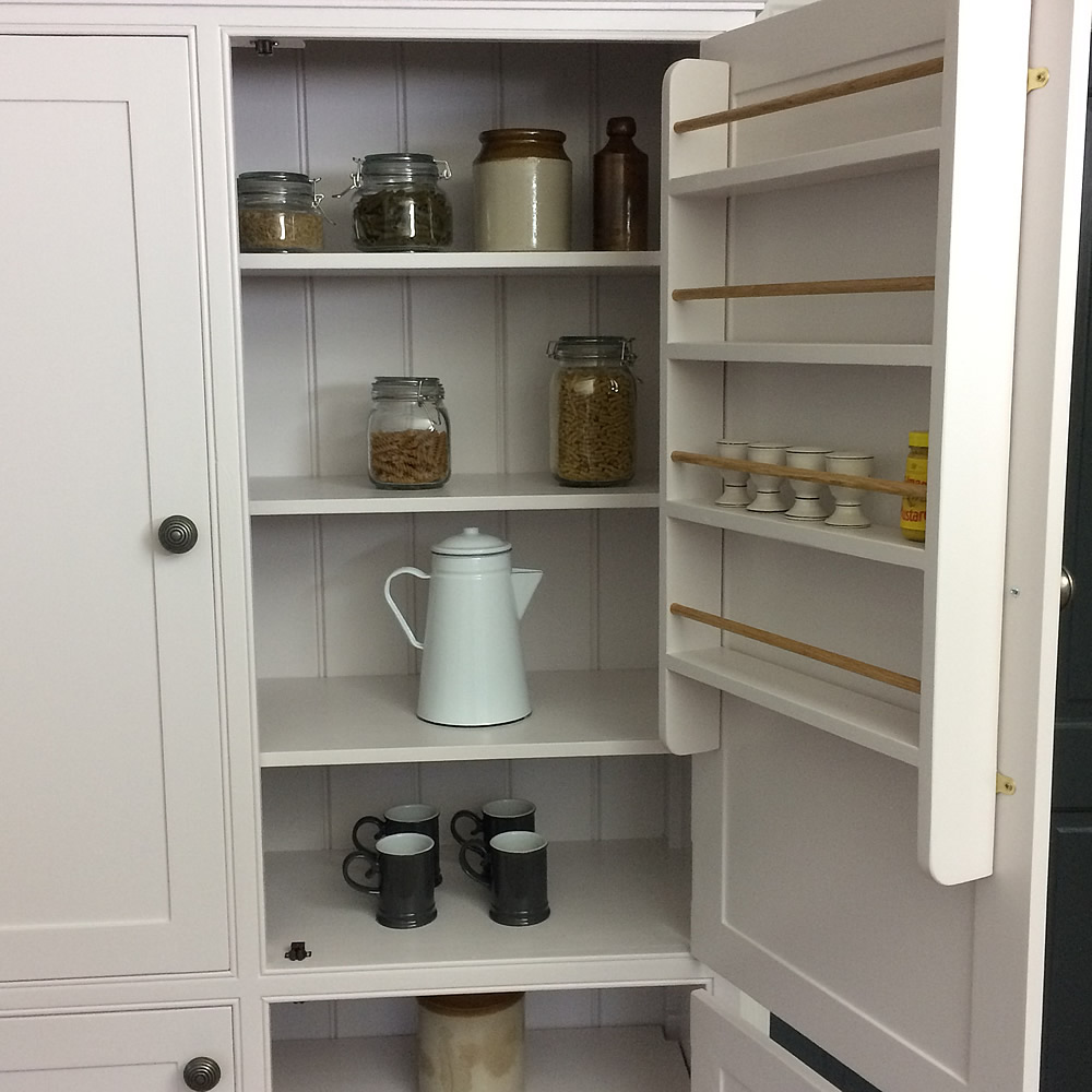 Freestanding Larder Cupboard With 4 Doors Kitchen Pantry