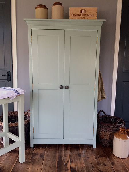 Small painted freestanding larder cupboard