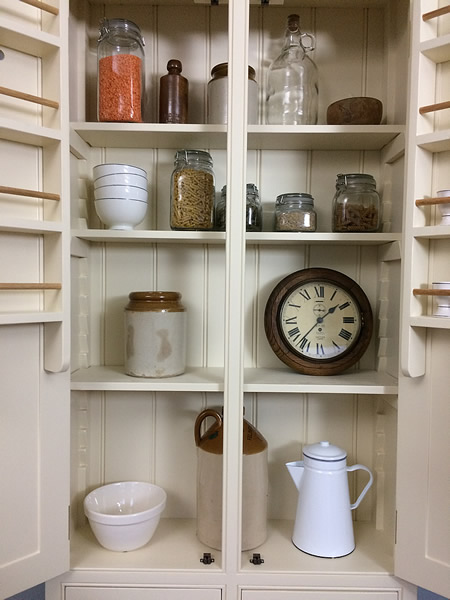 Freestanding larder cupboard with adjustable shelving