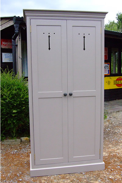 Freestanding larder cupboard shown in Farrow & Ball Charleston Gray