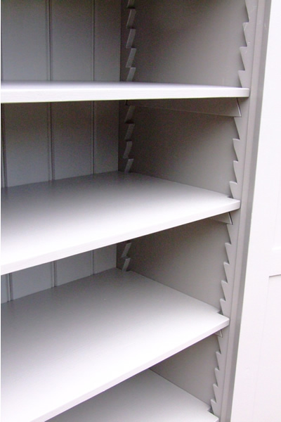 Freestanding larder cupboard with traditional saw-tooth design adjustable shelving