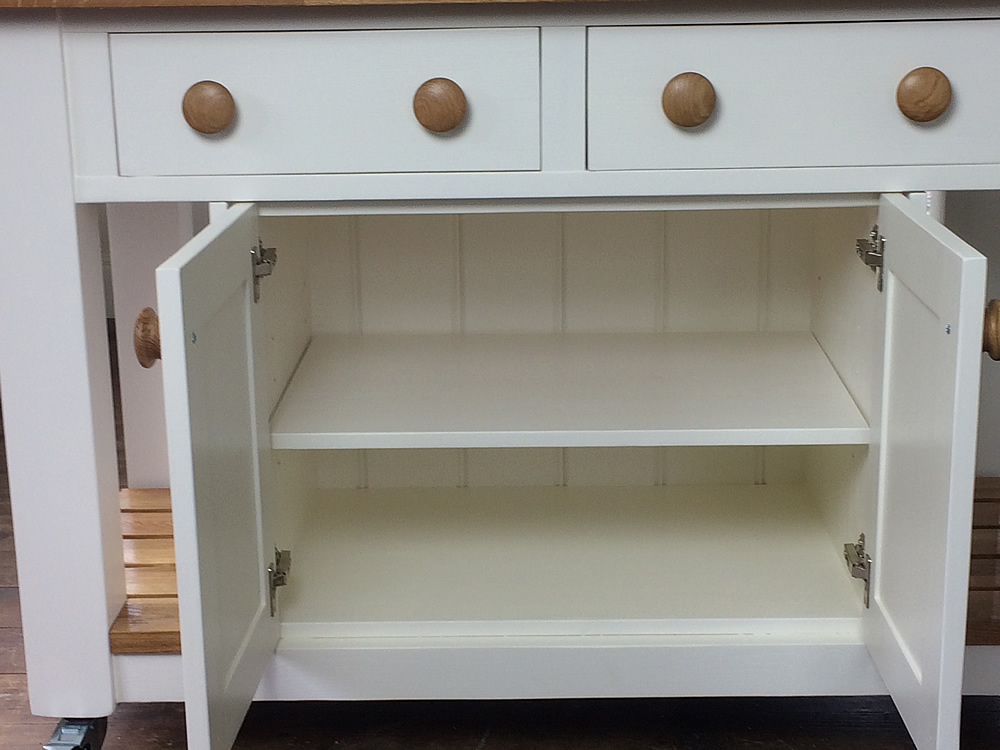 Freestanding Kitchen Island fitted with double storgae cupboard