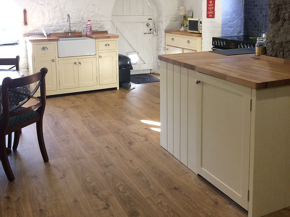Freestanding Kitchen Cupboard Fitted with Oak Worktops