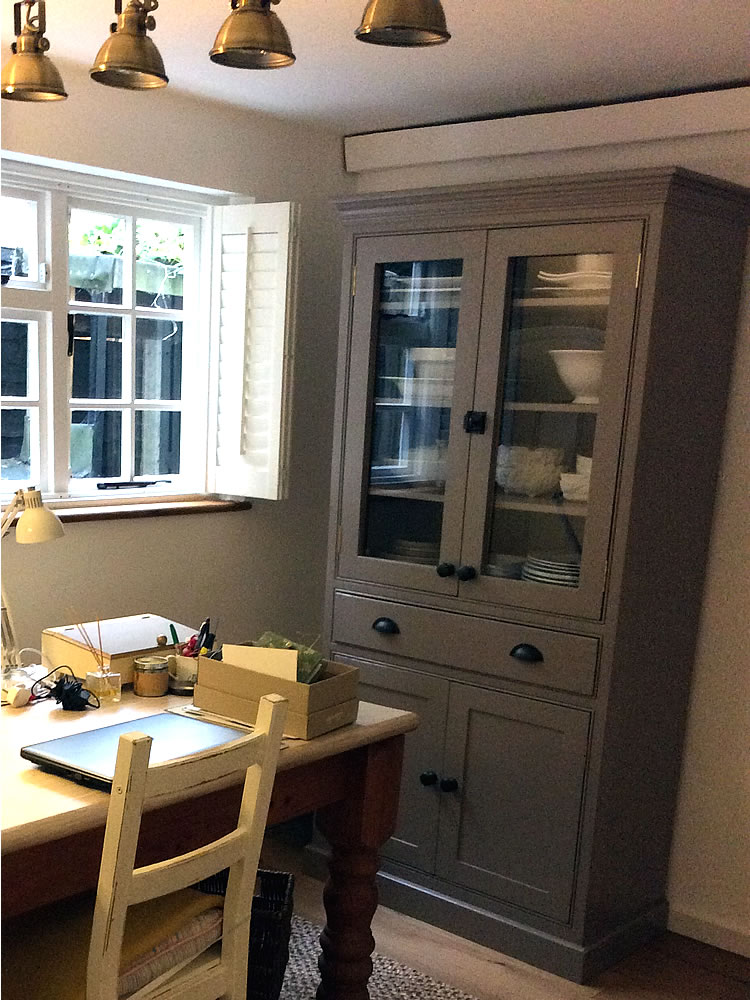 Freestanding Larder Cupboard with Glazed Doors