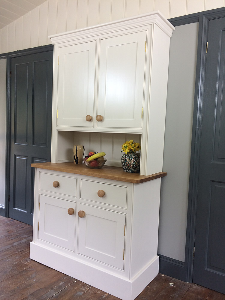 Small kitchen dresser fitted with an oak worktop