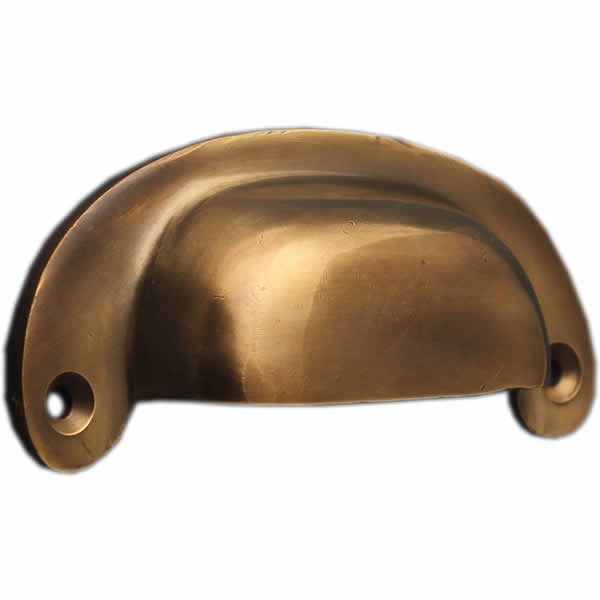 aged brass finish cupboard cup handle
