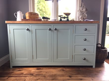 Freestanding kitchen storage cabinet fitted with 4 drawers