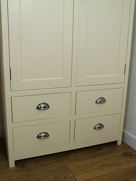 Freestanding Larder Cupboard with 4 hand-dovetail jointed drawers