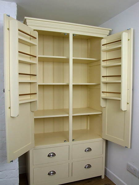 Freestanding Larder Cupboard with with fully adjustable shelves