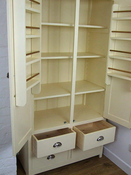 Freestanding Larder Cupboard with spice racks & fully adjustable shelves
