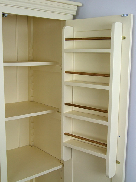 Freestanding Larder Cupboard with 4 Drawers & optional fitted woodem spice racks