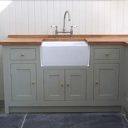 In-frame painted Shaker kitchen