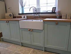 Painted Shaker kitchen dishwasher door