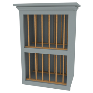 500mm shaker in-frame plate rack wall cabinet