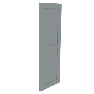 1000mm shaker in-frame double door worktop mounted cupboard