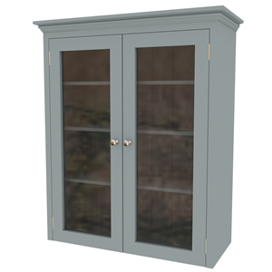 1000mm shaker in-frame double glazed door worktop mounted cabinet