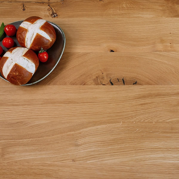 Full board rustic oak 40mm thick worktop
